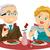 senior couple fine dining stock photo © lenm