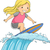 surfer girl stock photo © lenm