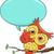 漫画 · 鳥 · 吹き出し · 青 · レトロな · 面白い - ストックフォト © lenm
