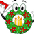 Christmas Wreath Mascot stock photo © lenm