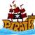 piraat · schip · stormachtig · zee · water · hout - stockfoto © lenm