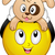 emotikon · díszállat · kutya · illusztráció · tart · fölött - stock fotó © lenm