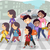 iskola · gyerekek · szülők · illusztráció · felfelé · egy - stock fotó © lenm