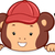 majom · tábla · illusztráció · farmer · magasra · tart · iskola - stock fotó © lenm