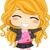 dziewczynka · pop · star · ilustracja · bezprzewodowej - zdjęcia stock © lenm