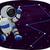 астронавт · космическое · пространство · земле · звезды · синий · темно - Сток-фото © lenm