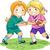 детей · играет · футбола · мало · мальчики · девочек - Сток-фото © lenm