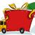 vektor · karácsony · házhozszállítás · teher · teherautó · eps8 - stock fotó © lenm