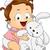 Cute · девушки · мало · Bunny · иллюстрация · ребенка - Сток-фото © lenm