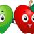 яблоко · талисманы · талисман · иллюстрация · зеленый · красное · яблоко - Сток-фото © lenm