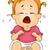 płacz · cute · mały · zły · posiedzenia - zdjęcia stock © lenm