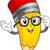 pencil mascot stock photo © lenm
