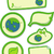 groene · aarde · stickers · vers · vlinder · borden - stockfoto © lenm