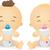 babák · iszik · tej · illusztráció · férfi · női - stock fotó © lenm