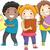 kids holding books stock photo © lenm