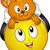 emotikon · díszállat · macska · illusztráció · tart · fölött - stock fotó © lenm
