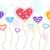valentin · nap · szívek · léggömbök · ünnep · szív · konfetti - stock fotó © lenm