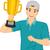 gouden · trofee · beker · vector · cartoon · illustratie - stockfoto © lenm