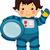 宇宙飛行士 · スペース · 波 · 実例 · 科学 - ストックフォト © lenm