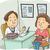 lány · vakcina · orvos · illusztráció · arc · orvosi - stock fotó © lenm