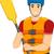 man white water rafting life vest stock photo © lenm