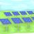 zonnepanelen · energie · illustratie · groene · veld · gras - stockfoto © lenm