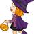 weinig · heks · meisje · halloween · kostuum · cute - stockfoto © lenm