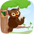 cartoon · uil · lezing · boek · illustratie · cute - stockfoto © lenm