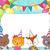 vektor · születésnap · sapkák · konfetti · buli · háttér - stock fotó © lenm