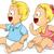 babák · illusztráció · férfi · női · gyerekek · gyermek - stock fotó © lenm