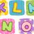 текстуры · детей · шаблон · проверить · квадратный - Сток-фото © lenm