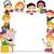 Kunst · Kinder · Illustration · halten · Pinsel · Mädchen - stock foto © lenm