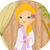 nina · spa · albornoz · ilustración · estándar - foto stock © lenm