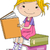 女の子 · 実例 · 紙 · 少女 · 子 - ストックフォト © lenm
