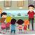 gyerekek · iskola · utazás · múzeum · illusztráció · lány - stock fotó © lenm