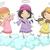 bonitinho · desenho · animado · anjos · isolado · feliz · criança - foto stock © lenm