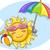 sole · giocare · spiaggia · illustrazione - foto d'archivio © lenm