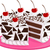 ciasto · ilustracja · posiedzenia · dziewczyna · strony · urodziny - zdjęcia stock © lenm