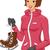 gelo · patinador · menina · ilustração · mulher - foto stock © lenm