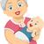 ilustração · mulher · idoso · feminino · senhora - foto stock © lenm