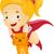 szuperhős · macska · boldog · rajz · jelmez · csillag - stock fotó © lenm