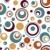 bezszwowy · circles · wzór · kolorowy · biały · muzyki - zdjęcia stock © lenm