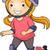 menina · vetor · isolado · feliz · esportes · esportes - foto stock © lenm