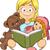 örnek · çocuklar · dinleme · kadın · aile - stok fotoğraf © lenm