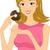 rosquinha · menina · ilustração · mulher · parcialmente - foto stock © lenm
