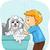 karikatür · köpek · örnek · sevimli · maskot - stok fotoğraf © lenm