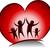 ragazzi · cuore · illustrazione · bambini · amore - foto d'archivio © lenm