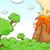 cena · vulcão · lava · ilustração · natureza · paisagem - foto stock © lenm