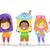 мороженым · костюмы · иллюстрация · дети · девушки - Сток-фото © lenm