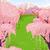 montanha · cena · ilustração · neve · verde · inverno - foto stock © lenm